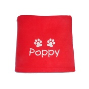 My Posh Paws - Personalised Santa Paws Blanket – Red