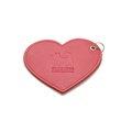 Leather Heart Poo Bag Pouch - Red 4