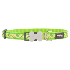 Flanno Dog Collar – Lime Green