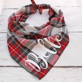 Personalised Alfies Plaid Tartan Dog Bandana