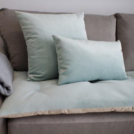 Lustre Velvet Sofa Topper - Seaspray 2