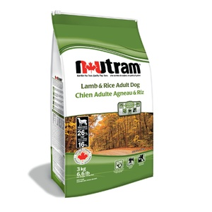 Nutram Adult Lamb & Rice Dry Dog Food 3kg