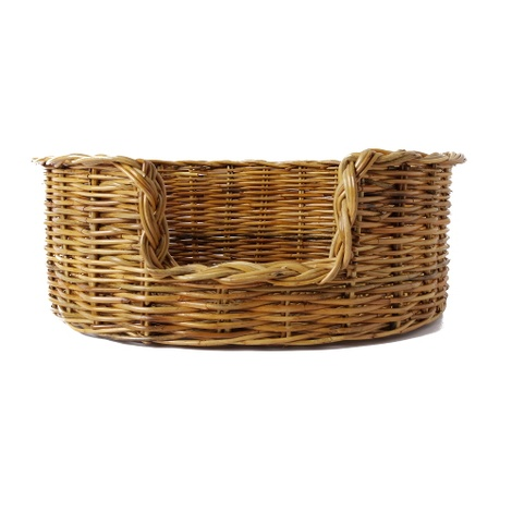 Natural Oval Rattan Dog Basket 2
