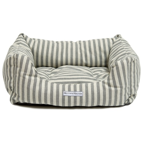 Flint Stripe Brushed Cotton Boxy Bed