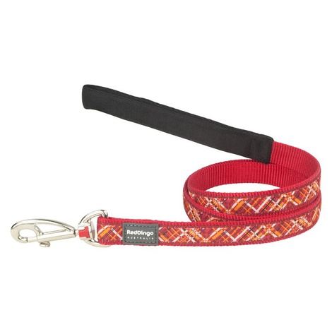 Flanno Dog Lead – Red