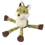 House of Paws - Green Tweed Long Legs Fox Dog Toy