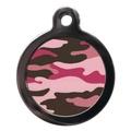 Camo Pet ID Tag - Pink