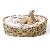 Charley Chau - Greywash Oval Rattan Basket