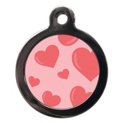 PS Pet Tags - Pink Hearts Pet ID Tag