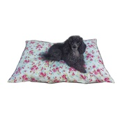 Pet Pooch Boutique - Cream Vintage Floral Cushion Dog Bed