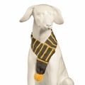 Knitted Dog Scarf – Charcoal & Lemon