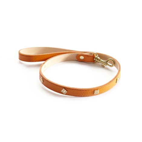 Woof Leather Dog Lead - Orange 2