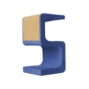 Catworks - Scratching Post - Letter S - Blue