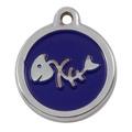 My Sweetie Blue Fishbone Pet ID Tag