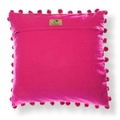 Biddy Pug Cushion Cover - Neon Pink with Green Pug 2
