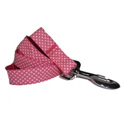 "Pet Pooch Boutique - Polka Dot Dog Lead - Pink  1"" Width"