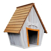 PJ Pet Products - The Bark-Shire Wooden Dog House