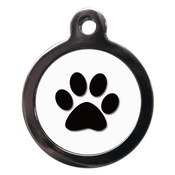 PS Pet Tags - Paw Print Pet ID Tag