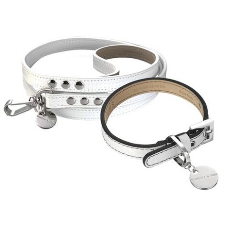 Polo Club Dog Collar & Lead Set - Black Edging