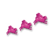 Pugs Might Fly - Set of 3 Flying Pugs - Pink