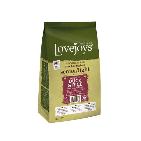 Lovejoys Senior/Light Duck & Rice Dry Dog Food 12kg