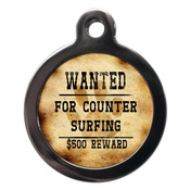 PS Pet Tags - Wanted For Counter Surfing Pet ID Tag