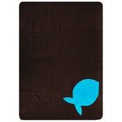 Creature Clothes - Fleecy Cat Blanket – Turquoise/Chocolate