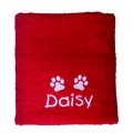 Personalised Santa Paws Towel – Red