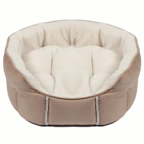 Kudos Fairmont Oval Pet Bed in Oatmeal