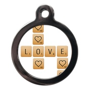 PS Pet Tags - Love Scrabble Dog ID Tag