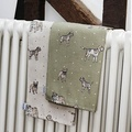 Dogs Linen Tea Towel - Natural 3