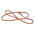 Rolled Leather Slip Dog Lead - London Tan