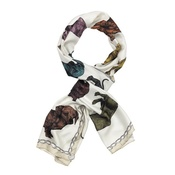 Lisa Bliss - Dachshund Print Scarf in Rainbow