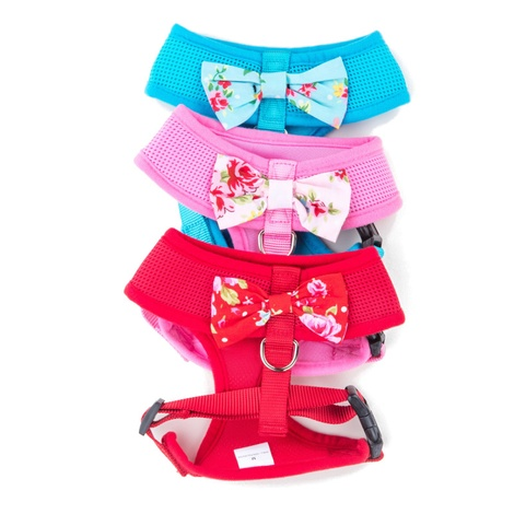 Pink Vintage Bow Dog Harness 2
