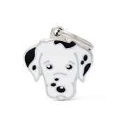 My Family - Dalmatian Engraved ID Tag