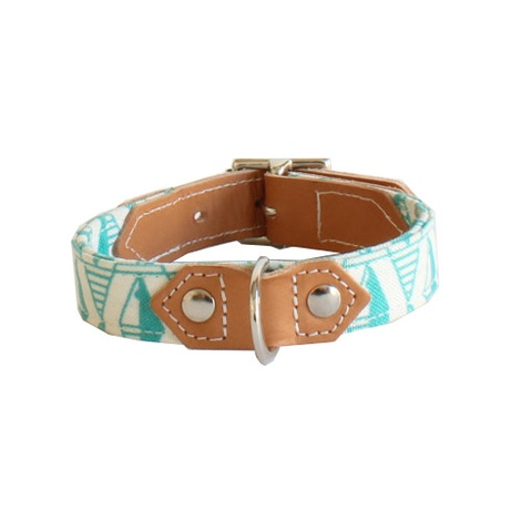 Green Geo Dog Collar 4