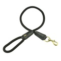 Cecily Rope & Leather Dog Lead – Black