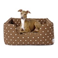 Deeply Dishy Luxury Dog Bed - Dotty Chocolate