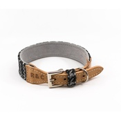 Ralph & Co - Tweed & Leather Dog Collar - Ascot