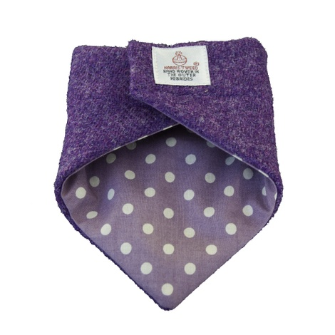 Pet & Owner Bandana/Scarf Set Purple Harris Tweed 2