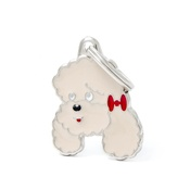 My Family - Poodle Engraved ID Tag – Apricot
