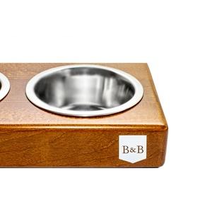Amber Double Dog Bowl