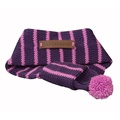 Knitted Dog Scarf – Grape & Pink 3