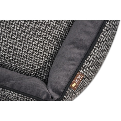 Shadow Grey Houndstooth Lounge Dog Bed 4