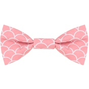 Teddy Maximus - Pink Fans Bow Tie