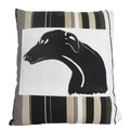Greyhound Panel Onyx Cushion