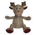 Festive Weaver Reindeer Dog Toy