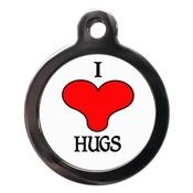 PS Pet Tags - I Love Hugs Pet ID Tag