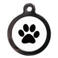 Paw Print Pet ID Tag