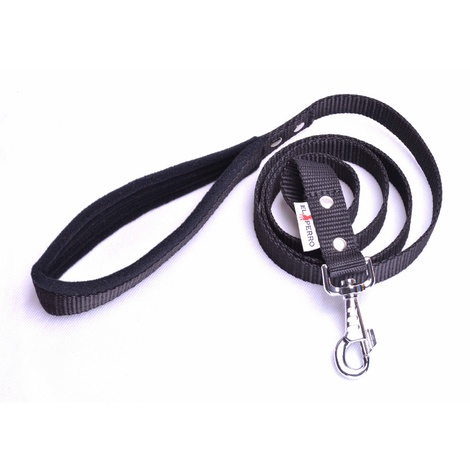 Fleece Comfort Dog Lead – Black